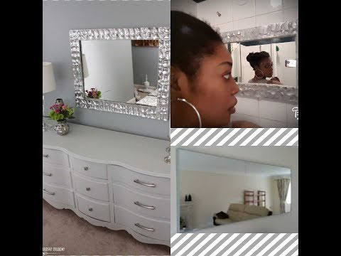 DIY  Decor, Frame Mirror (pricey look)