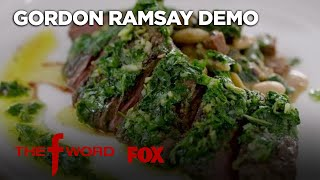 Gordon's Skirt Steak With Chimichurri Sauce Recipe: Extended Version | Season 1 Ep. 8 | THE F WORD