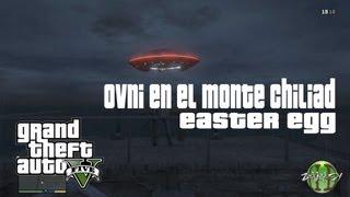 GTAV (Grand Theft Auto V) - Easter Egg: OVNI en Monte Chiliad (Flying UFO)