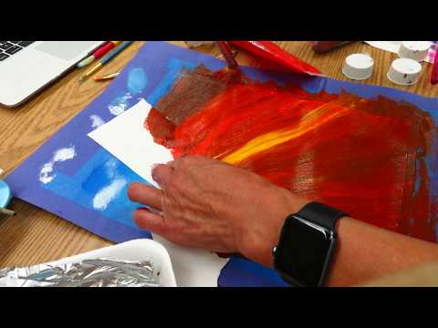 How to recycle old acrylic paint and used paper asmr