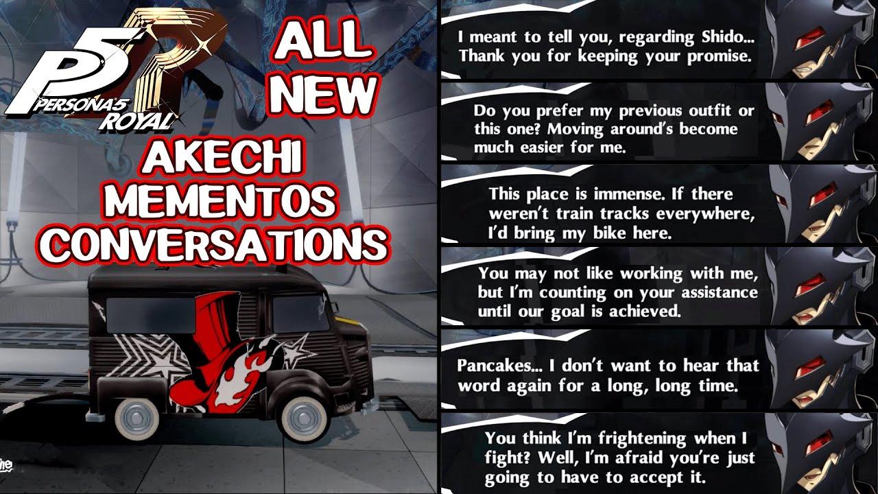 All New Akechi Mementos Conversations - Persona 5 Royal