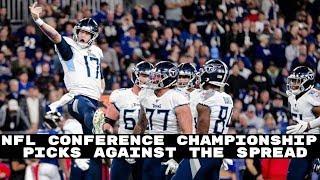 NFL Conference Championship Round Vegas Spread Picks + Bonus Picks (Betting Advice)