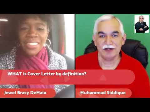 Learn the art of Writing EFFECTIVE Cover Letter with Jewel Bracy DeMaio for your Job Search