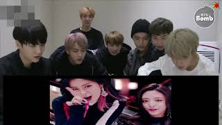 BTS reaction video to ITZYs' DALLA DALLA Music Video