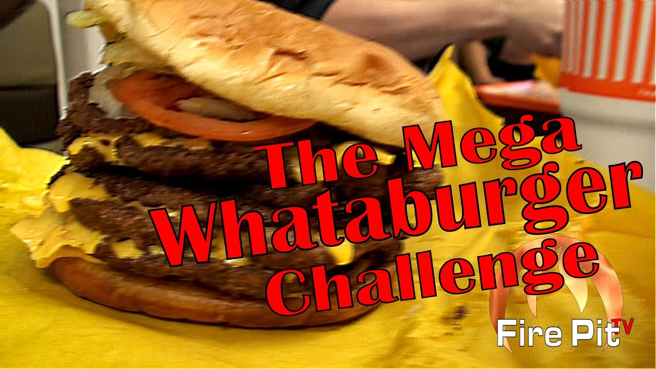 Mega Whataburger Challenge Youtube