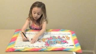 Aunt Potata - Pillow case drawing.