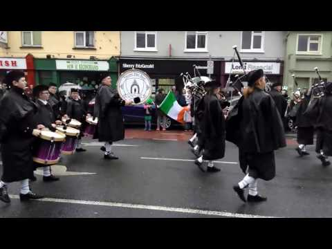 The Killeshin Pipe Band in Carlow Town's St. Patricks Day Parade 2017