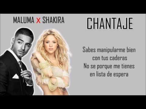 Chantaje - Shakira Ft Maluma (Letra/Lyrics)