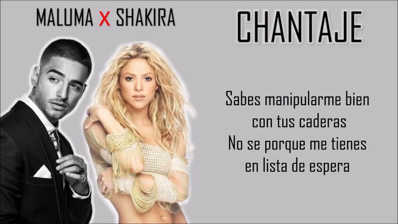 Chantaje Shakira Ft Maluma Letra Lyrics Youtube