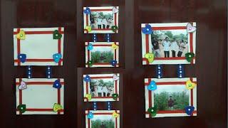 Card board Photo frame at home | Wall hanging photo frame design | Wall hanging decoration