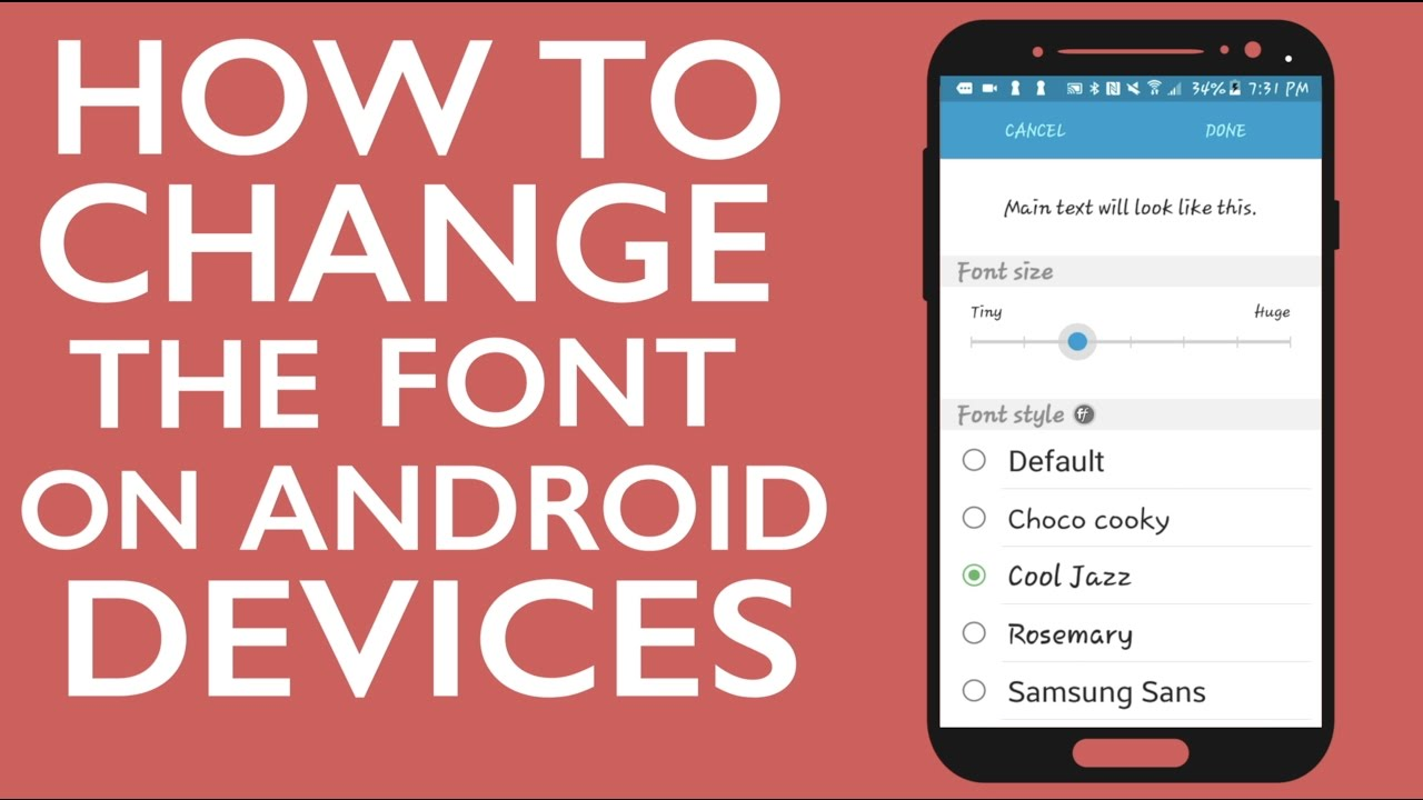 How to Change the Font on Android Devices