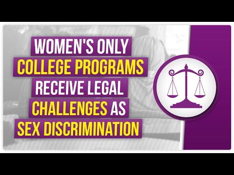 Women's Only college programs receive legal challenges as sex discrimination - Internet Law ReviewKaynak: YouTube · Süre: 4 dakika22 saniye