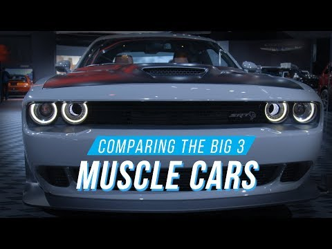 A look at the Big Three muscle cars at the Detroit auto show