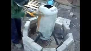 Gas Bottle Wood Burning Stove Part 2