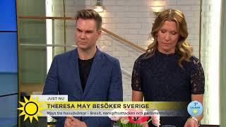 """Theresa May i Sverige: """"Sverige är viktigt för Storbritannien"""" - Nyhetsmorgon (TV4)"""