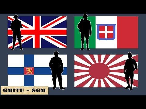 Composición Pelotones: Reino Unido, Italia, Finlandia y Japón