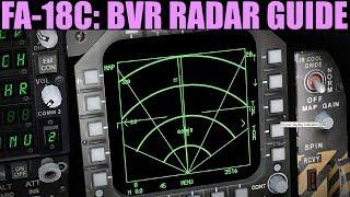FA-18C Hornet: A/A Radar (BVR) Tutorial | DCS WORLD
