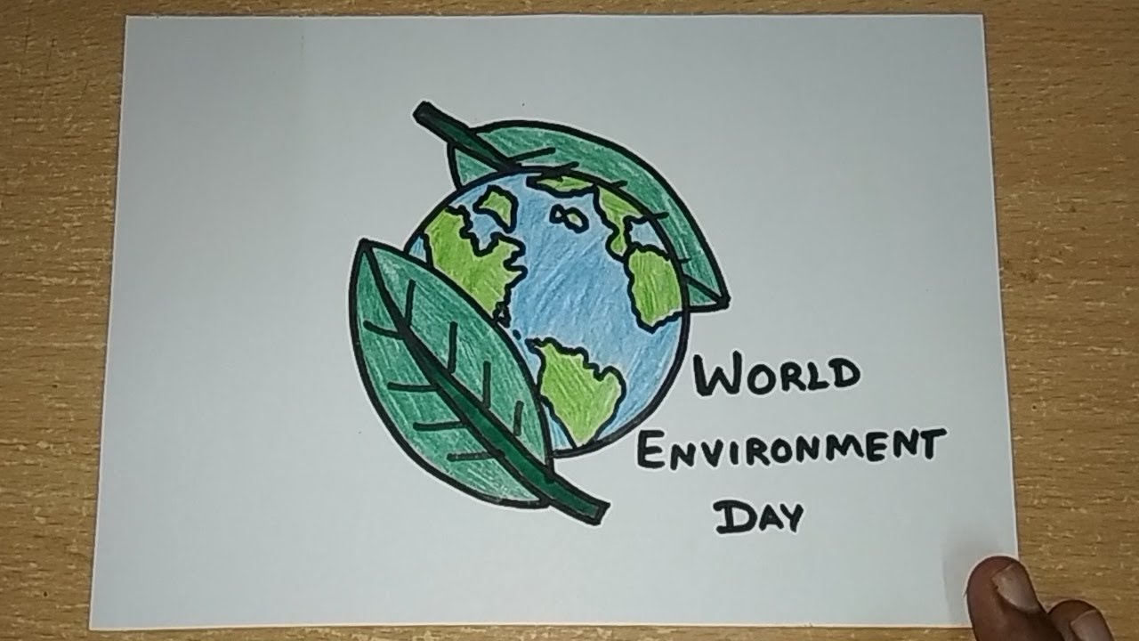 World Environment Day Drawings For Kids Save Tree Save Earth