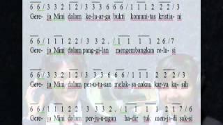gereja mini full teks dan not angka