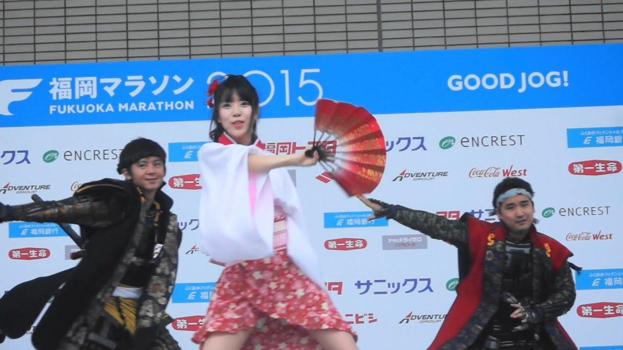 福岡ご當地アイドル ふくおか官兵衛Girls ② 福岡マラソン2015EXPO ...
