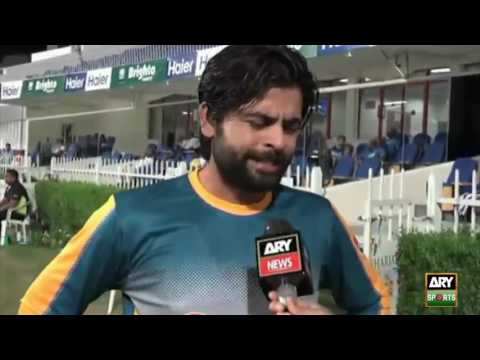 Ahmed Shehzad talks to ARY News in Sharjah