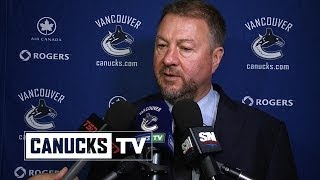 Mike Gillis on Roberto Luongo Trade (Mar. 4, 2014)