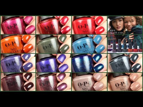 OPI Scotland Fall 2019 | Live Swatch | Dupes + Comparisons