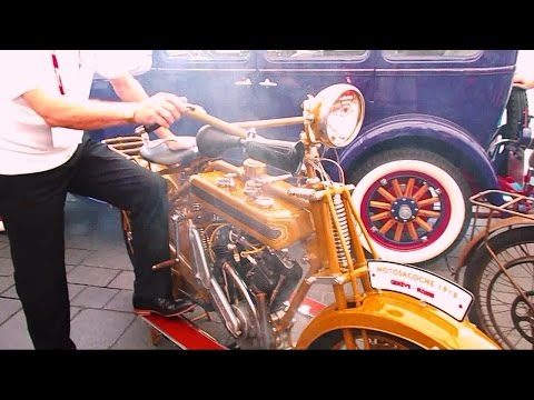 95 year-old Motosacoche bike fired-up