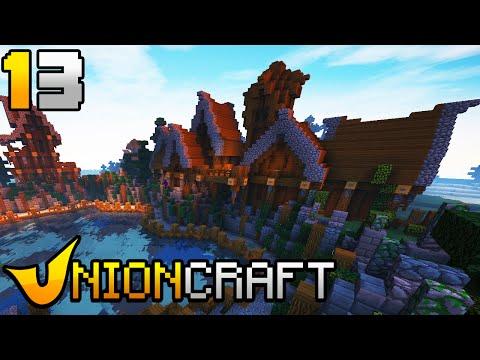 """""""UnionCraft"""" #13 = Cidade Portuária Medieval  (Minecraft online)  FT Doze"""