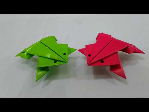 Origami Katak How To Make A Paper Frog Youtube