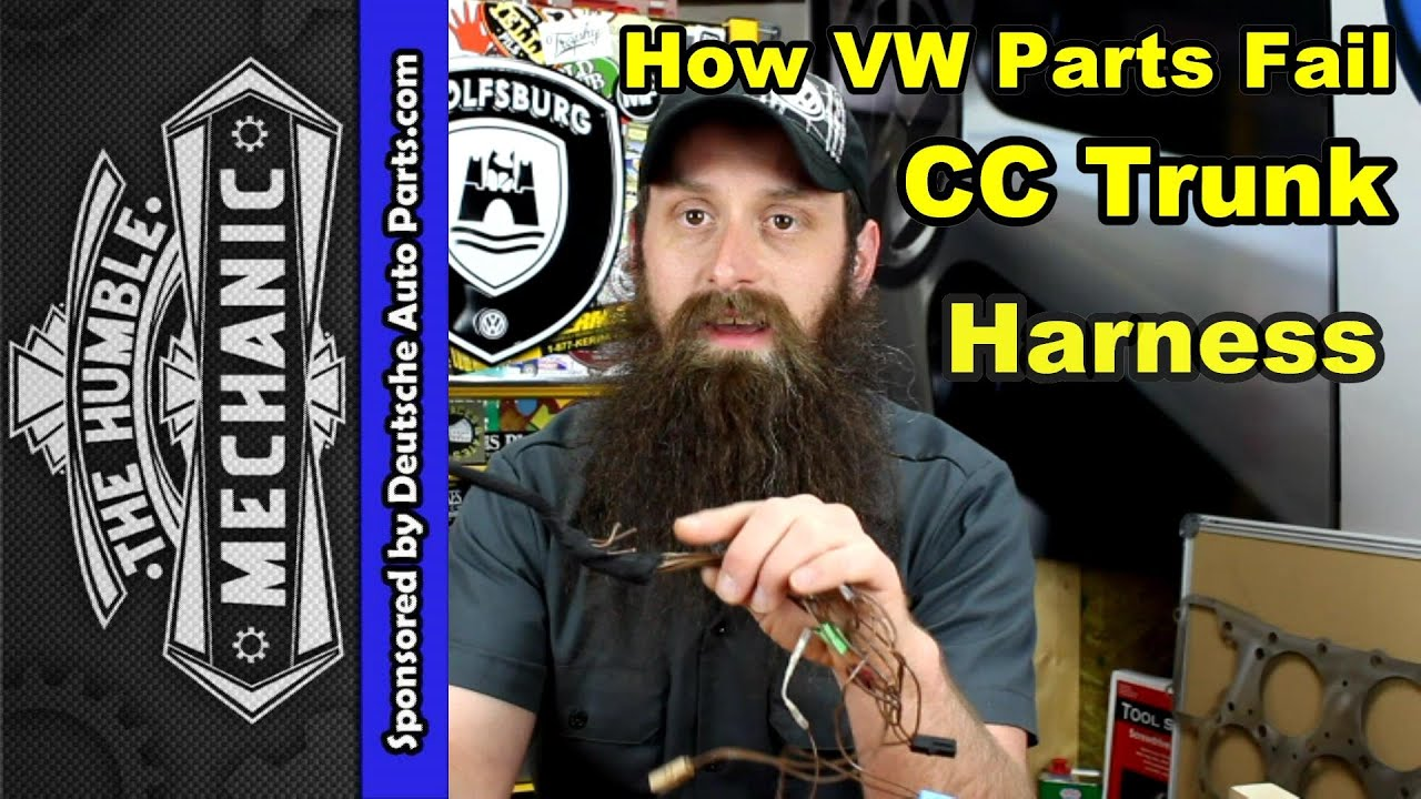 maxresdefault how the vw cc trunk harness fails youtube 2010 vw cc trunk wire harness routing at panicattacktreatment.co