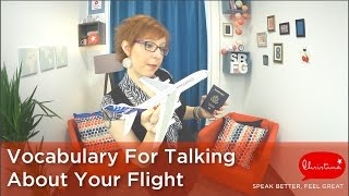Talking About Your Flight - Learn English Vocabulary