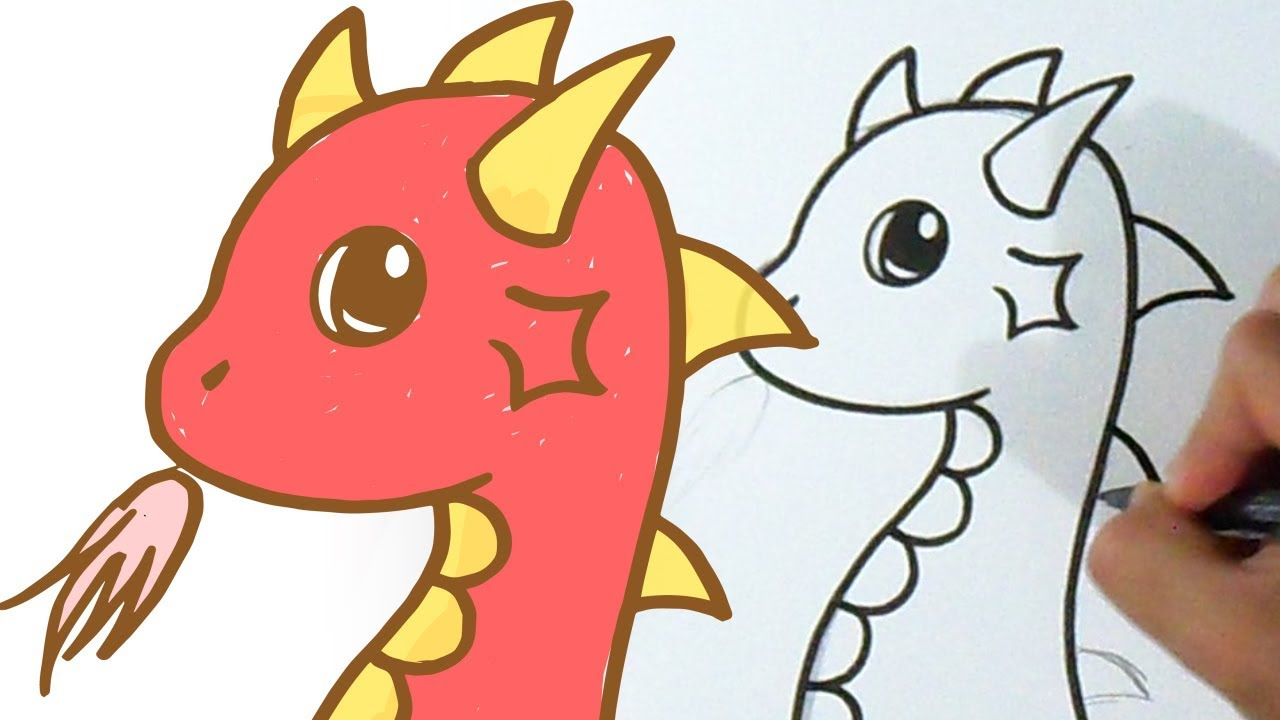 how to draw cute dragon youtube