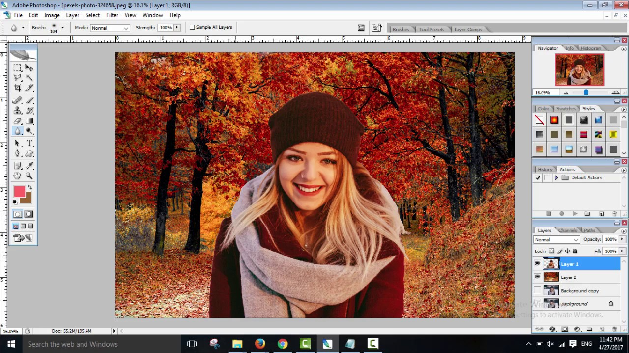 how to change photo background in photoshop