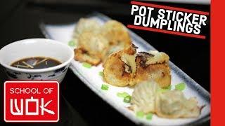 Chinese Pork Potsticker Dumplings Recipe | Dim Sum Jiaozi! | Wok Wednesdays