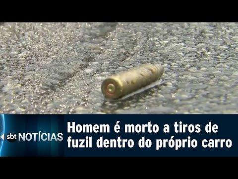 Polícia investiga morte de homem assassinado dentro do próprio carro | SBT Notícias (07/08/18)