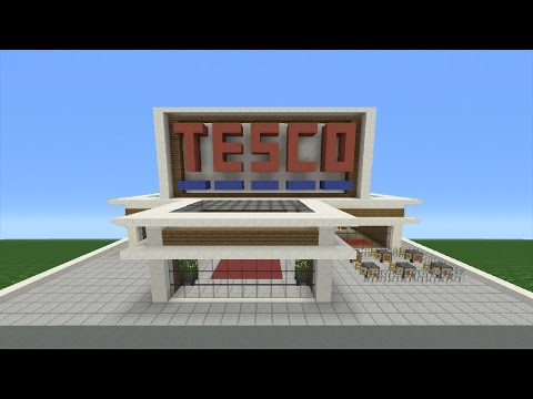 Minecraft Tutorial: How To Make A Super Market (Tesco)