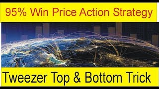 95% Win Best Price Action Strategy | Tweezer Tops and Bottoms trading Trick | Tani Forex In Urd