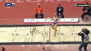 Βελιγράδι: Χάλκινο μετάλλιο η Βούλα Παπαχρήστου με 14.24μ. (Ολες οι προσπάθειες της) {4/3/2017}
