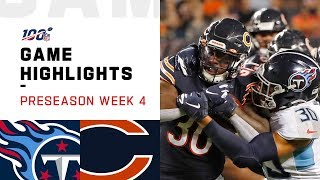 Titans vs. Bears Preseason Week 4 Highlights | NFL 2019