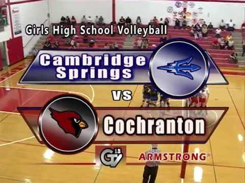 Cambridge Springs vs Cochranton-Girls High School Volleyball