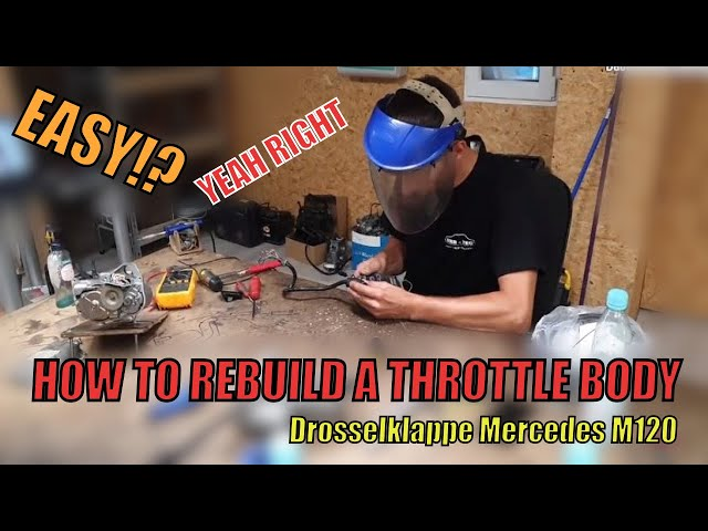 MKB TEC | How to REBUILD a MERCEDES M120 throttle body | Drosselklappe