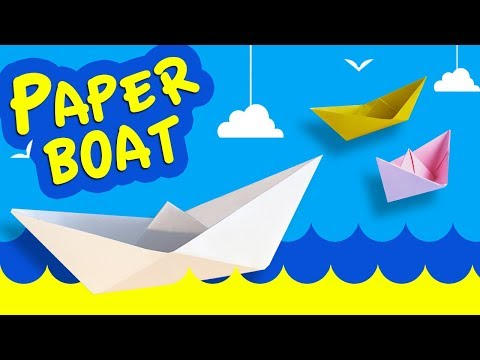 How to Make Easy Origami  Paper Boat   DIY Paper Crafts [4K]
