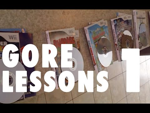 Gore Lessons - Part 1 - Cleaning Video Game Cases