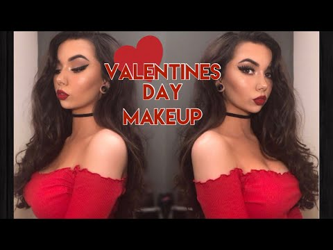Cute Valentines Day Makeup // Classic Red Lip