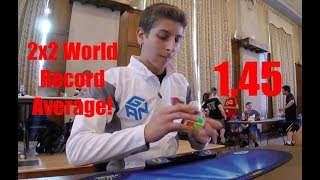 2x2 Cube 1.45 WORLD RECORD Average! - Rami Sbahi