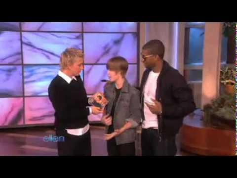 Justin Bieber And Usher Dancing @ The Ellen Show