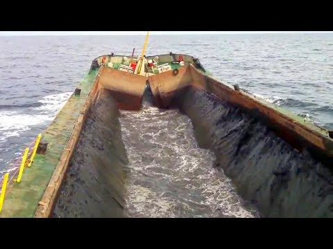 Barge unload and Timber shipping. Ship fails and accidents