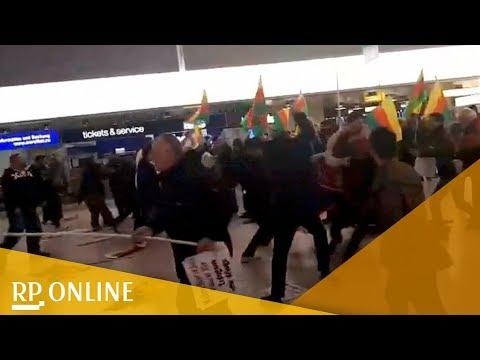 Flughafen Hannover: Schlägerei zwischen Türken und kurdischen Demonstranten