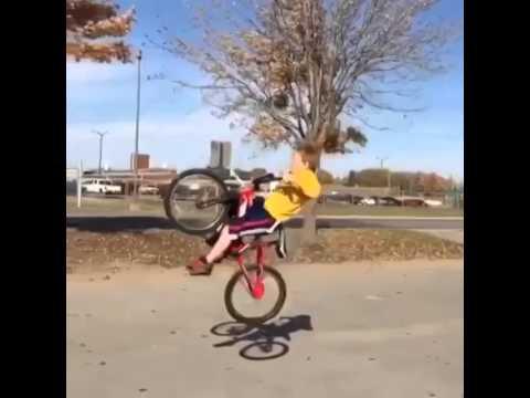 Little Kid Takes The Funniest Bike Crash Ever Youtube